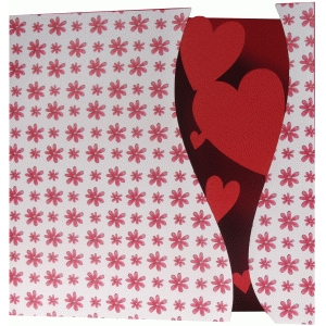 hearts abstract card