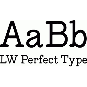lw perfect type font