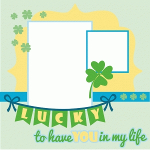 lucky scrapbook layout