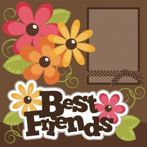 best friends single page scrapbook kit