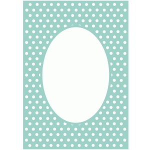 polkadot frame background / card panel