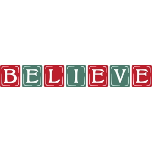 vintage block – believe