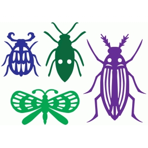 beetles and bugs set