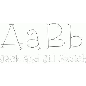 jack and jill sketch font