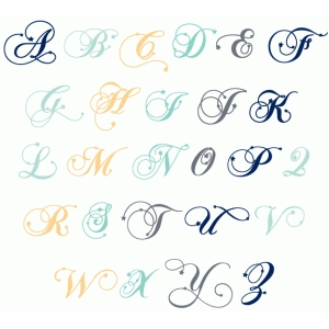 star fancy monogram alphabet