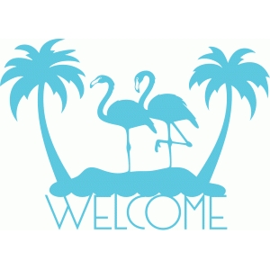 welcome sign flamingo island