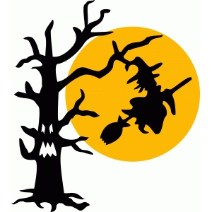 witch tree halloween