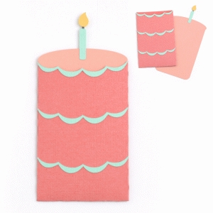 cake gift card envelope