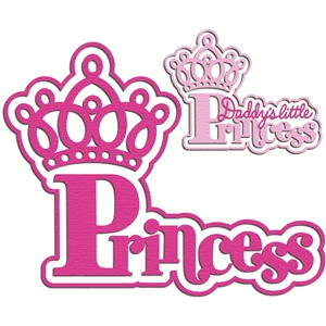 'daddy's little princess' word set