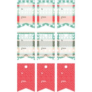 winter love gift tag flags