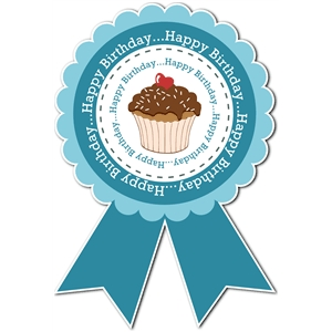 birthday award ribbon
