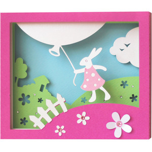 5x7 easter shadow box card