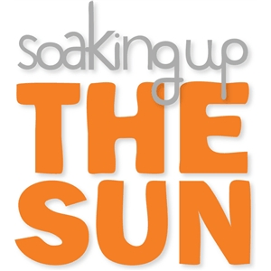 'soaking up the sun'