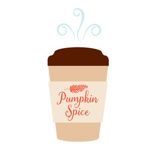pumpkin spice coffee cup