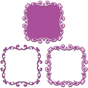 3 way ornate flourish frame