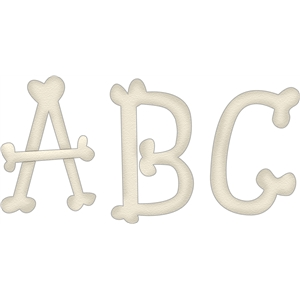 bone alphabet abc