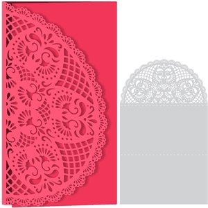 card lace doily half round