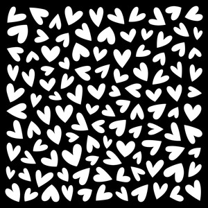 quirky hearts pattern stencil