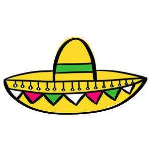 colored sombrero