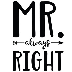 mr always right arrow quote