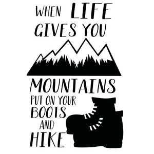 life give mountain hike