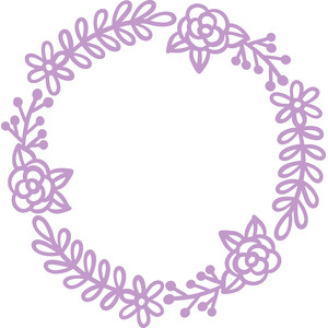 rose and flower wreath