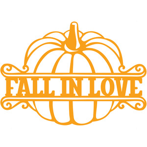 fall in love pumpkin