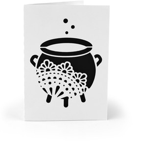 5x7 card ornate cauldron