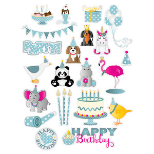 critter's birthday planner stickers