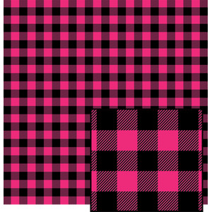 pink and black buffalo plaid pattern