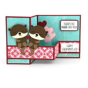 pop up box card valentine otter