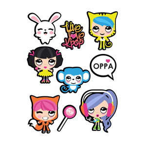k-pop stickers