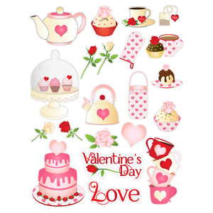 valentine party planner stickers