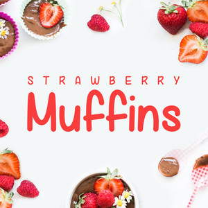 strawberry muffins font