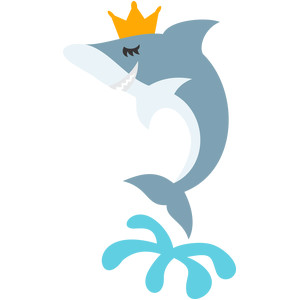 shark and crown