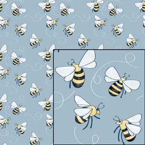 bees repeat pattern
