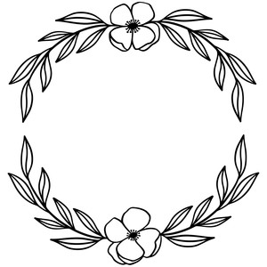 laurel wreath flowers and leaves