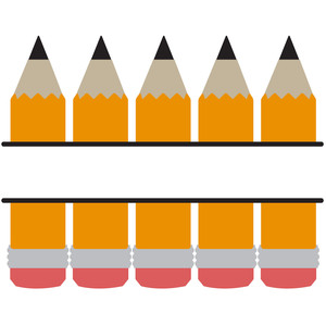 pencil split title