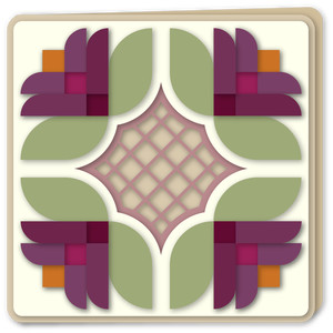 blossom quartet quilt block card