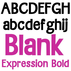 zp blank expression bold