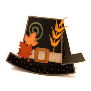 pilgrim hat pop and twist card
