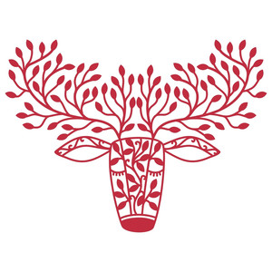 deer with forest antlers
