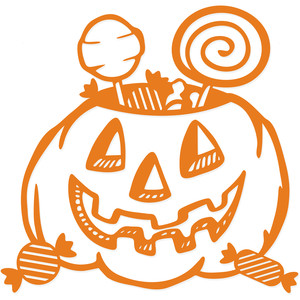 halloween trick or treat pumpkin