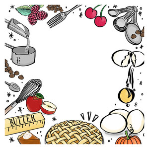 foodie frame background