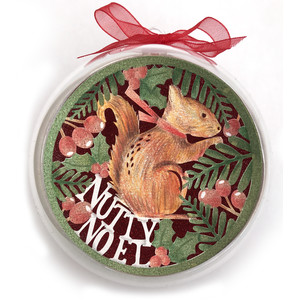 nutty noel squirrel christmas holiday ornament