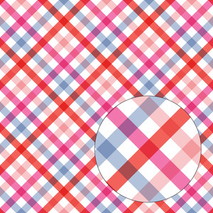 red pink & purple plaid seamless pattern
