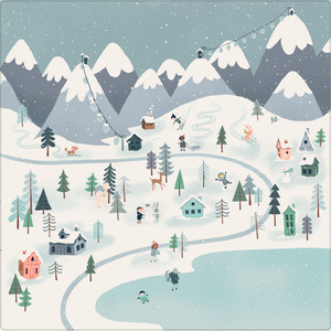 winter mountain scene