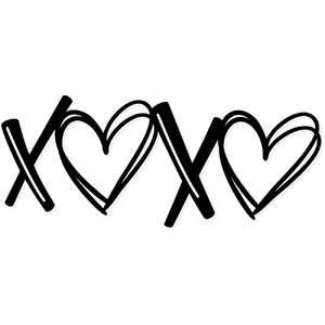 xoxo scribble hearts