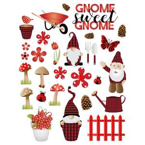 gnome sweet gnome planner stickers