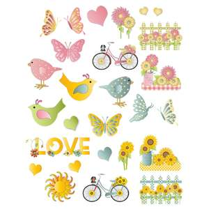 springtime flowers planning stickers